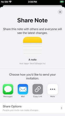 UICLoudSharingController Notes