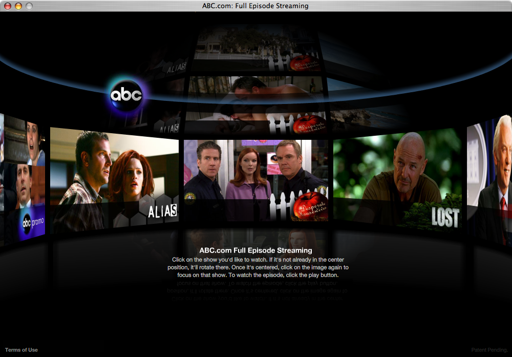 abc.com streaming menu